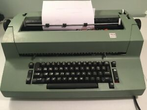 Rare Green Colored Ibm Selectric Ii Correcting Typewriter Needs Alignment