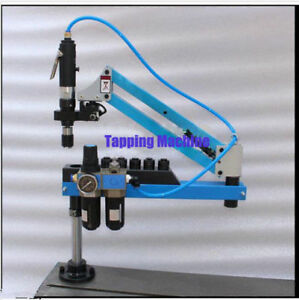 Universal Flexible Arm Pneumatic Air Tapping Machine 360 Angle 1500mm M3 m12