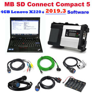 New Mb Sd Connect Compact 5 Star Diagnostic Software 2019 3 With 4gb Lenovo X220