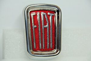 Classic Fiat 500 L Lusso Front Badge Emblem Metal Highest Quality Brand New