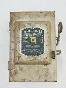 Vintage Square Deal Safety Switch Disconnect