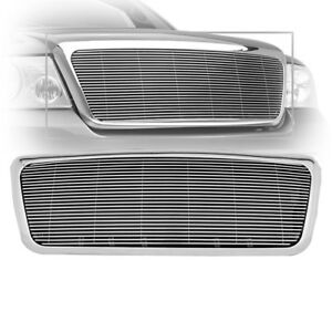 2004 2008 Ford F 150 F150 Chrome Billet Grille Front Replacement With Abs Shell