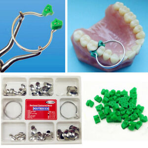 Dental Sectional Contoured Matrices Matrix Ring Delta 100pcs 40 Add on Wedges