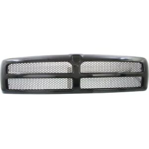 New Ch1200188 Black Plastic Honeycomb Grille For Dodge Ram 1500 3500 1994 2002