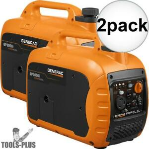 Generac 7129 Gp3000i 3000 Watt Inverter Generator 2x New