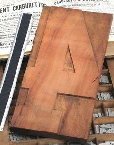 12 48 Giant Number 4 Rare Unused Wood Type Letterpress Printing Block Woodtype