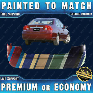Painted To Match Rear Bumper Replacement For 2001 2003 Honda Civic