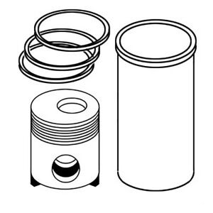 040 Piston Liner Kit Sk099 For Ford New Holland Tractor 2n 8n 9n Biff103a Pk3a