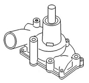 157069as Water Pump For White oliver Tractor 1650 1655 1750 1800 1850 1855 1950t