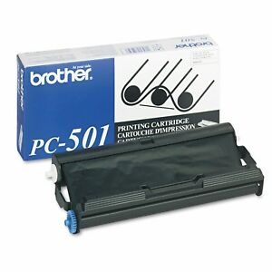 Brother Pc 501 Fax Printer Cartridge New Sealed For Fax 575 Ink Free Shipping