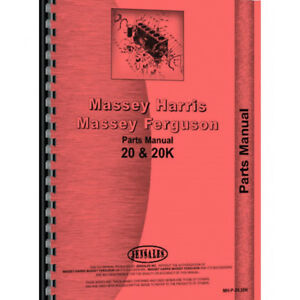 Massey Harris 20k Tractor Parts Manual