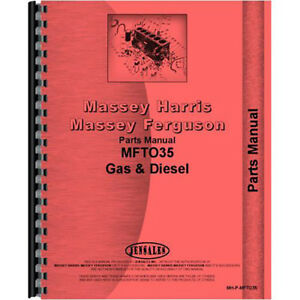 New Massey Ferguson To35 Tractor Parts Manual