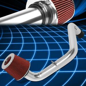 For 94 01 Integra Gs Rs Ls 2 5 Od Aluminum Cold Air Intake System W Red Filter