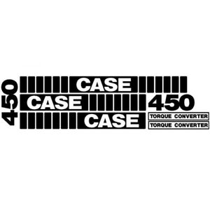 Whole Machine Decal Set For Case Crawler Dozer 450 With Torque Convertor Decals