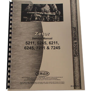 Service Manual For Zetor 5245 Tractor 1958 1992