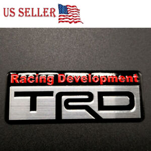 3d Metal Trd Car Sticker Emblem Decal Toyota Racing Development Tailgate Badge