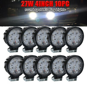 10x 4in 27w Round Led Work Light Offroad Lights For John Deere s Tractor Trucks