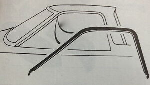 1970 1971 Ford Ranchero Roofrail Weatherstrip Pair
