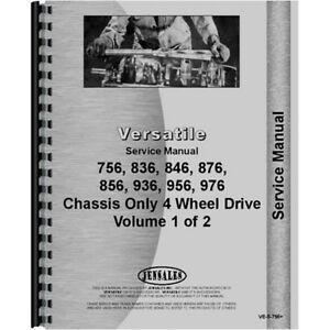New Versatile 756 Tractor Chassis Only Service Manual