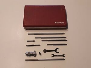 L s Starrett No 124a Solid Rod Inside Micrometer Caliper Set 2 8 124b 50542