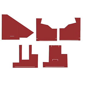 Cw2851 New Tractor Red Cab Kit With Headliner For Agco White 2 105 2 150 2 85