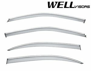 Wellvisors For 2000 2003 Nissan Maxima Sedan Chrome Trim Side Window Visors