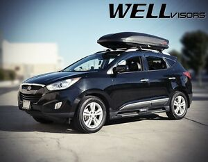 Wellvisors For 10 15 Hyundai Tucson Black Trim Side Window Visors Rain Guards