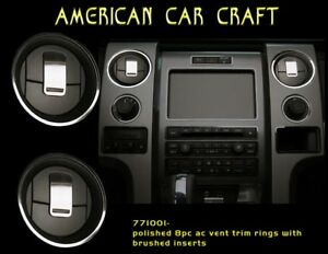 771001 2010 2014 Ford Raptor A c Vent Trim Rings Front American Car Craft