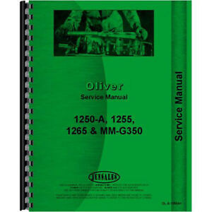 New Oliver 1250a Tractor Service Manual