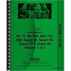 New Oliver Super 66 Tractor Service Manual