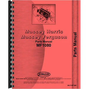 New Massey Ferguson 1080 Tractor Parts Manual