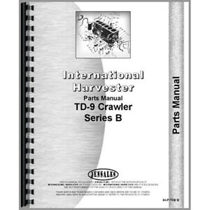 New International Harvester Td9 Crawler Series Parts Manual