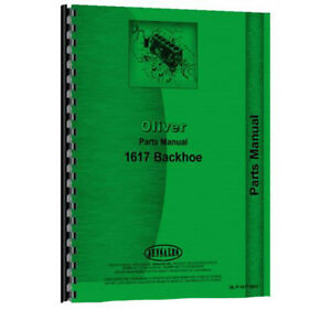 Oliver 2 78 Industrial 1617 Backhoe Attachment Parts Manual
