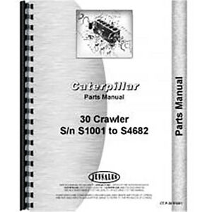 For Caterpillar 30 Crawler Parts Manual new