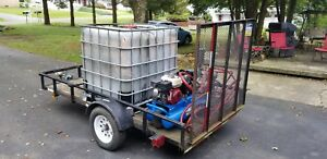 Honda Asphalt Sealcoating Spray Unit With Tank And Trailer