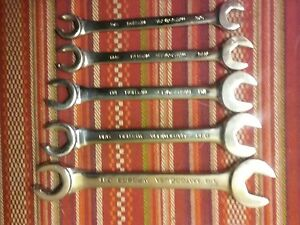 Matco Tools 5 Piece Sae Flare Nut Open End Wrench Set