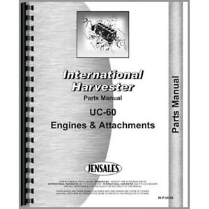New International Harvester Uc60 Tractor Parts Manual