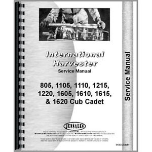 New Tractor Service Manual For International Harvester Cub Cadet 1605 Tractor