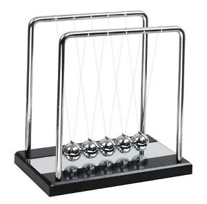 Newton s Cradle Balance Balls With Wooden Base Physics Science Classroom Large