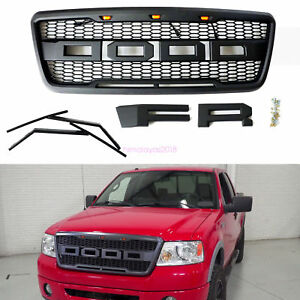 2004 2008 Ford F150 Raptor Style Conversion Grill Grille W f R Direct Install Us