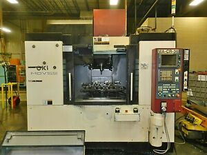 Okk Model Mdv 55 Cnc Vertical Machining Center With Fanuc 180is mb Control 2005