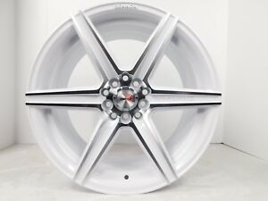 17x8 5x114 3 Custom Wheels Rims Set Of 4 Machine White