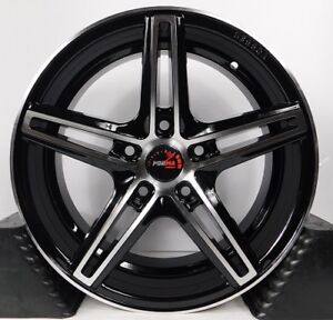 16x7 5x114 3 Custom Wheels Rims Fits Civic Set Of 4 Machined Black New