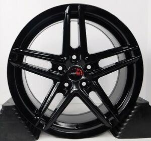 17x7 5 5x114 3 Custom Wheels Rims Fits Nissan Set Of 4 Gloss Black New