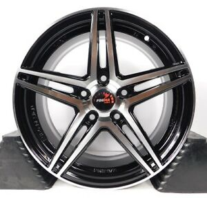 16x7 5x100 Custom Wheels Rims Fits Corolla Set Of 4 Machined Black New