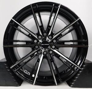 16x7 5 5x114 3 Custom Wheels Rims Fits Toyota Set Of 4 Machined Black new