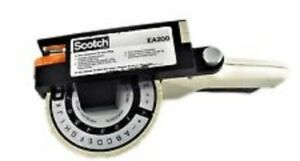 Scotch Model Ea200 Labeler 3 4 Handheld Tape Label Maker