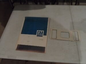 Nos 73 87 Chevy Gmc Blazer Jimmy Center Console Front Insert Oem Gm 3944820 Sk