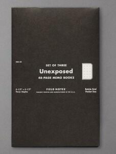 Field Notes Unexposed Edition 3 pack Reticle Grid Memo Notebooks By Field Notes