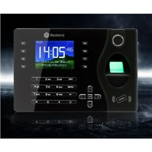 Realand K180 2 4inch Tft Color Network Fingerprint Time Attendance System Black